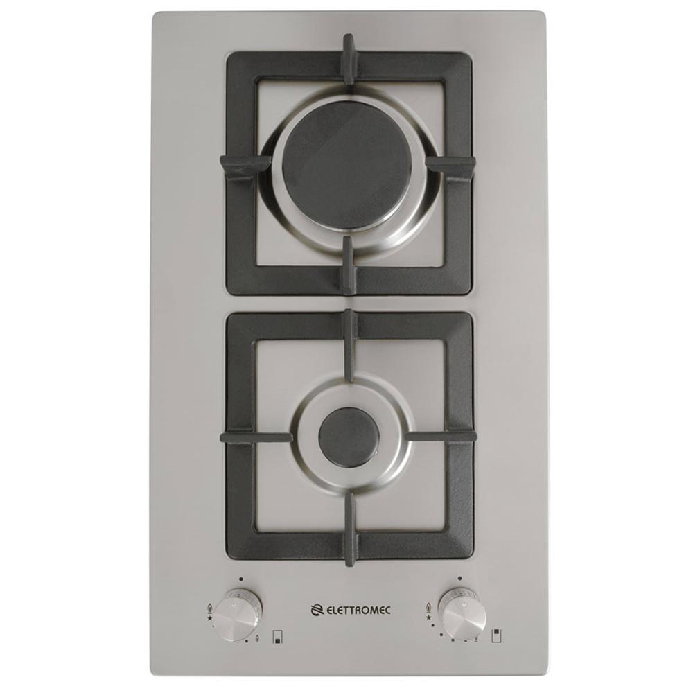Cooktop Dominó Elettromec Quadratto 2 Queimadores Inox Gusa 30cm Bivolt