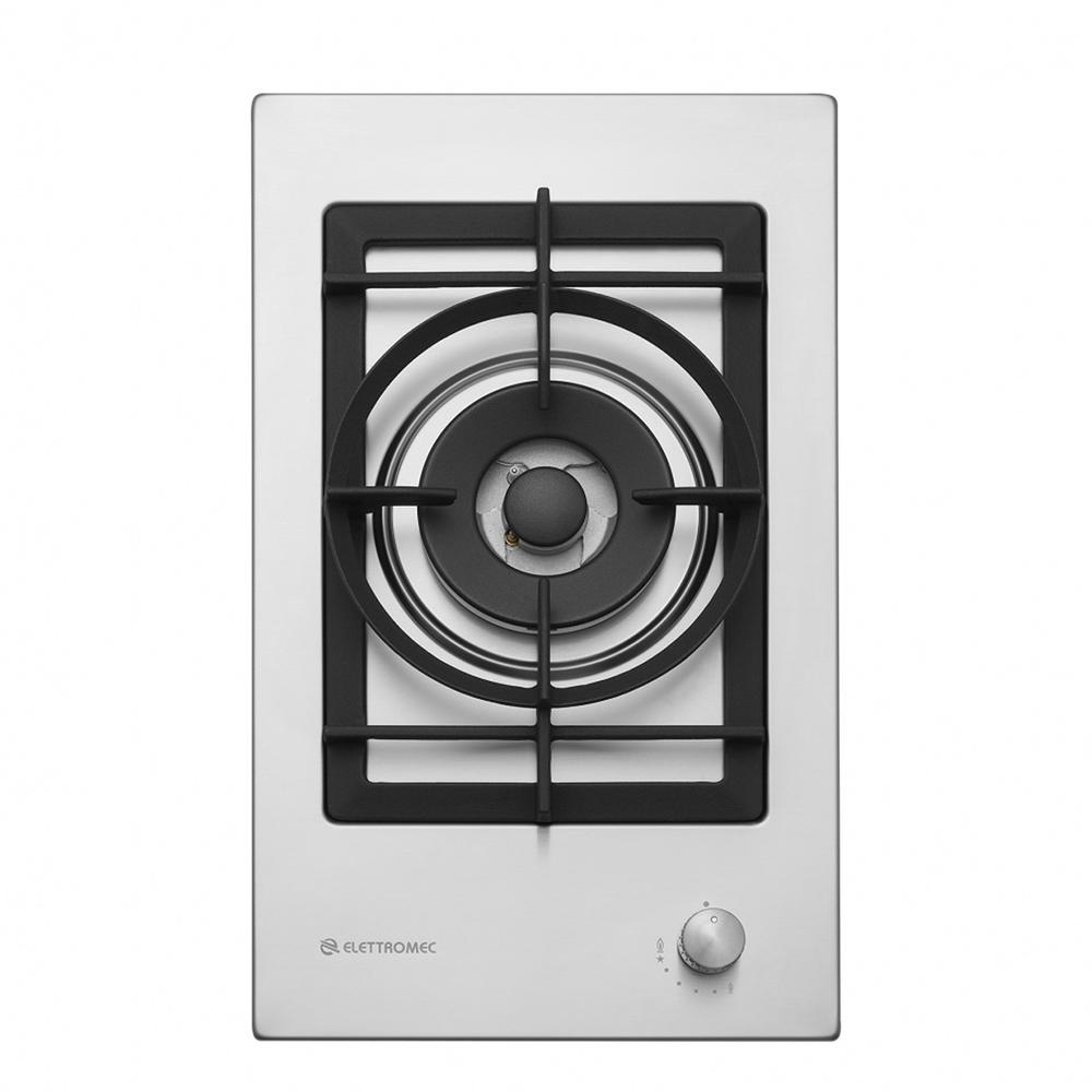 Cooktop Dominó Elettromec Quadratto Dual Flame 1 Boca Inox 30cm Bivolt