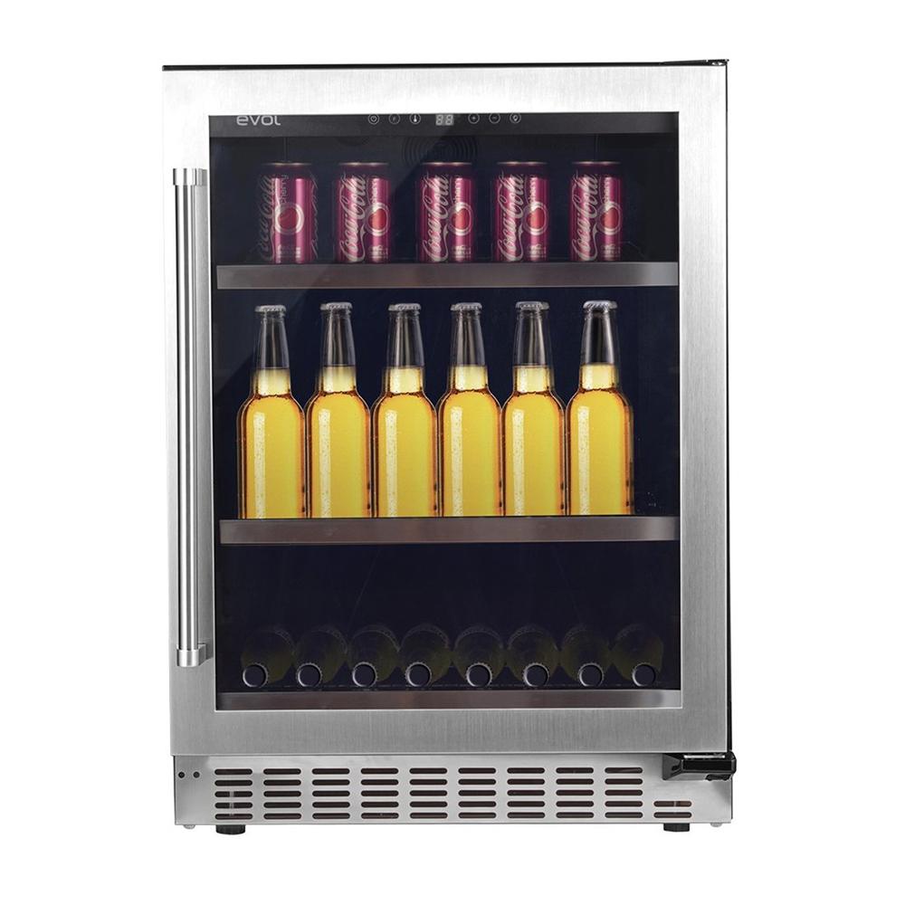 Frigobar de embutir Professional inox porta reversível resistência 136L 220V Tecno