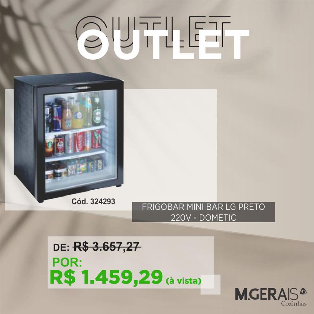 Frigobar Mini Bar Dometic LG Preto Richt 220V RH 460 LG