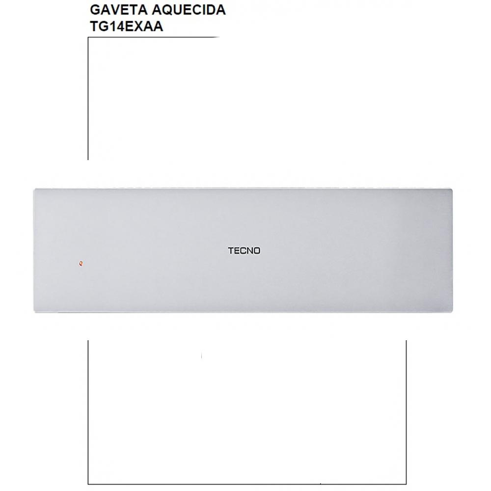 Gaveta aquecida inox 4 serviços 26L 220V Tecno