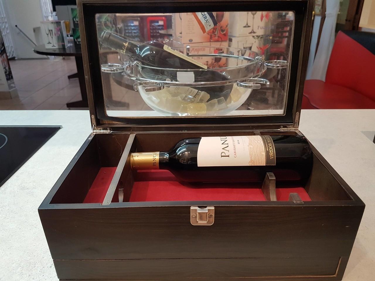 Jogo para vinho com 5 peças caixa de madeira Edfort