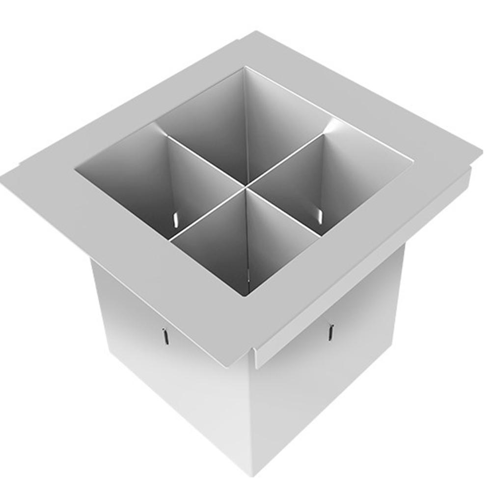 Porta Talheres DeBacco Inox 15cm