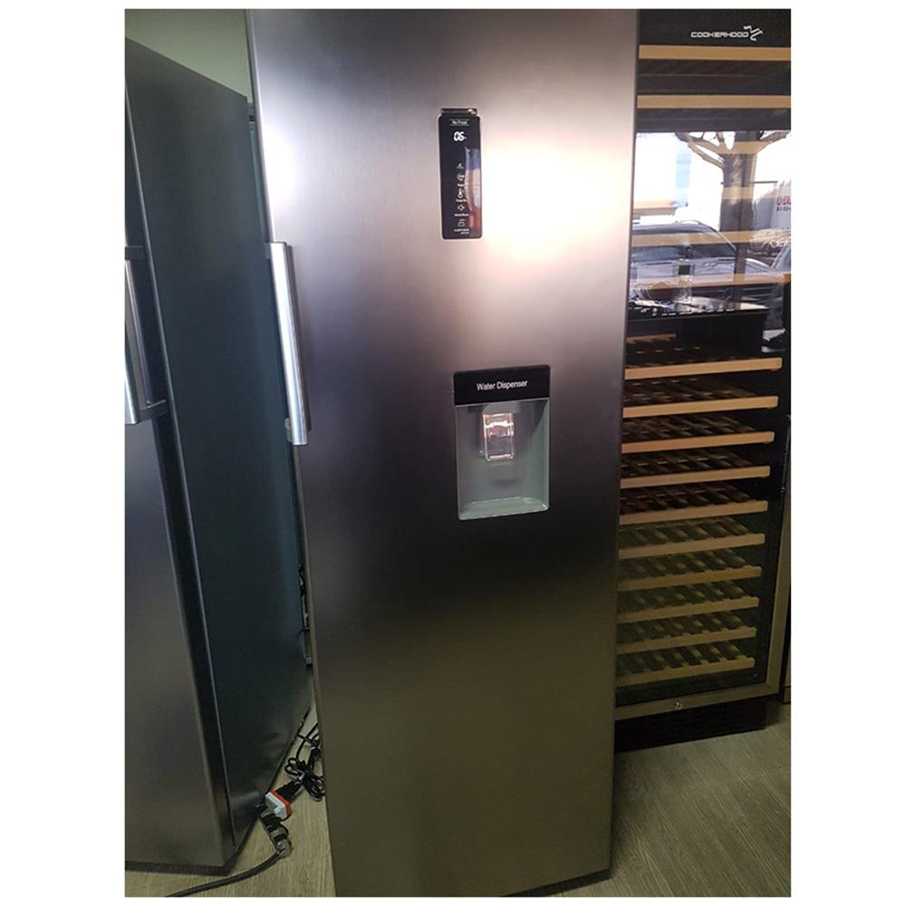Refrigerador Cookerhood inox 360 litros com agua na porta