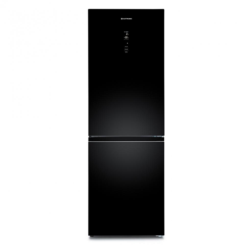 Refrigerador Elettromec Vetro Bottom Freezer 317L Vidro Preto 220V
