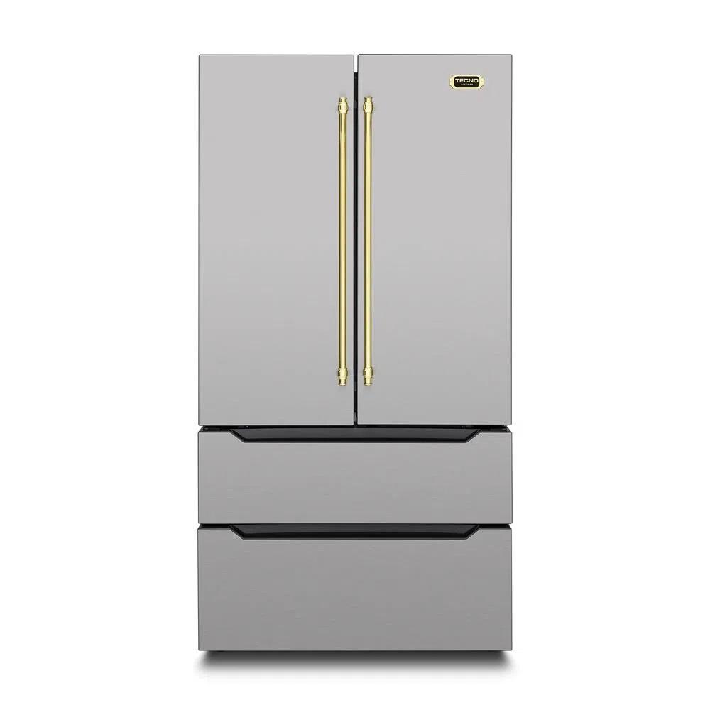 Refrigerador French Door Tecno Linha Vintage Inox Inverter 636L 127V