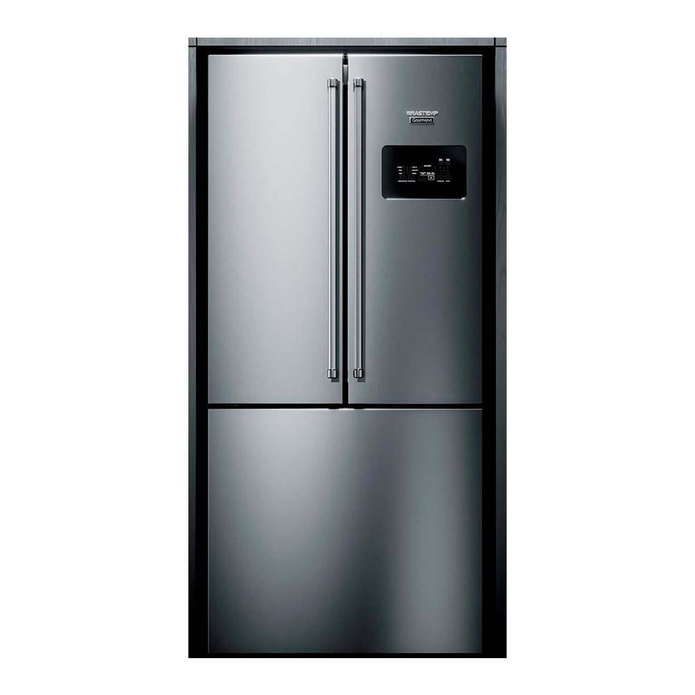 Refrigerador Gourmand 540L com ice maker 110V Brastemp