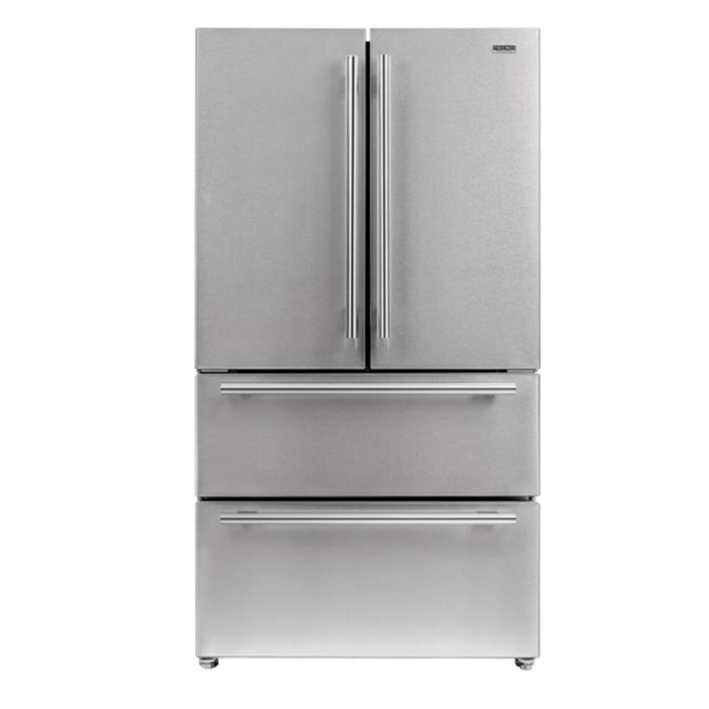 Refrigerador Tecno French Door Inox de duas gavetas 545L 127v