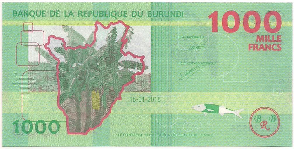 Burundi - 1000 Francs FE 2015