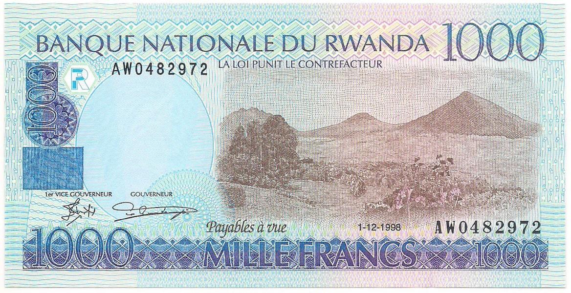 Ruanda - 1000 Francs FE 1998