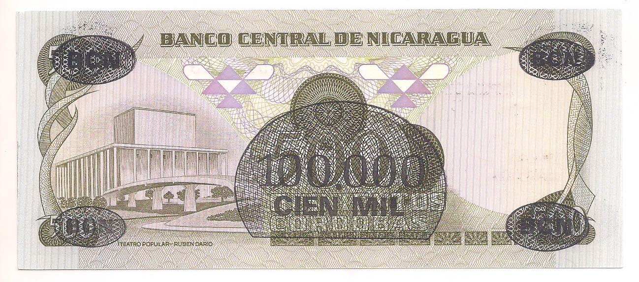 Nicarágua - 100.000 Cordóbas FE 1987