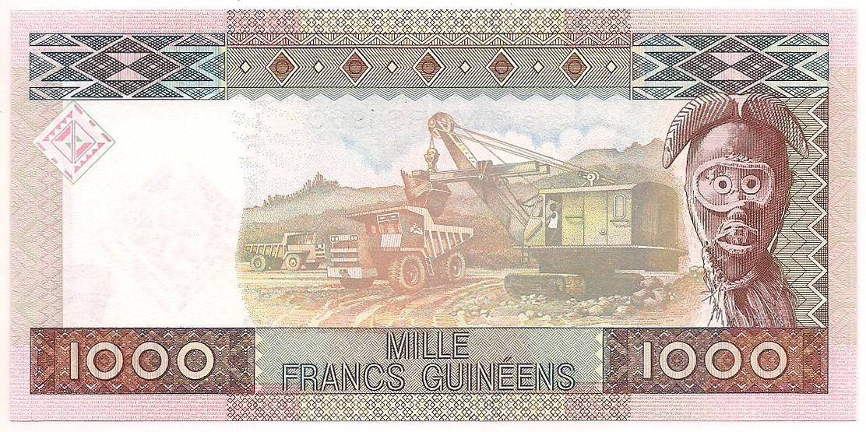 Guiné - 1000 Francs Guinéens 2010