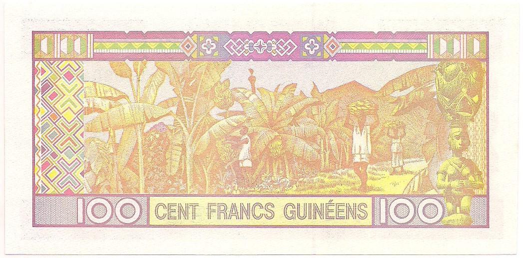 Guiné - 100 Francs Guinéens FE 2012