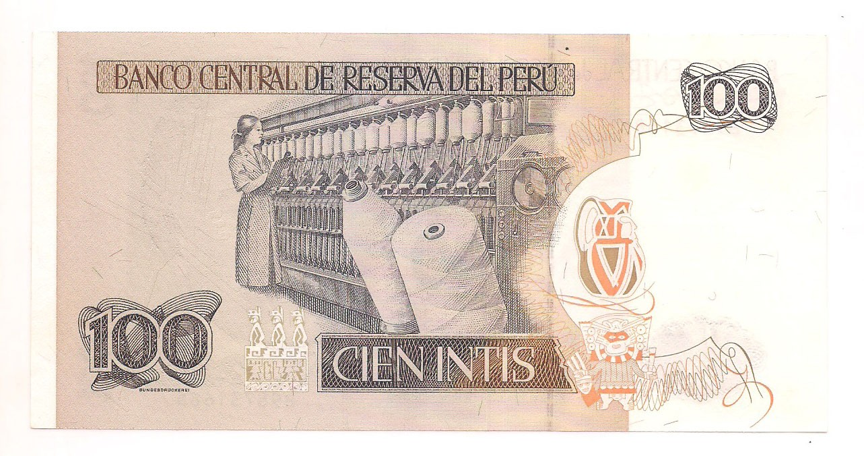 Peru - 100 Intis 1987