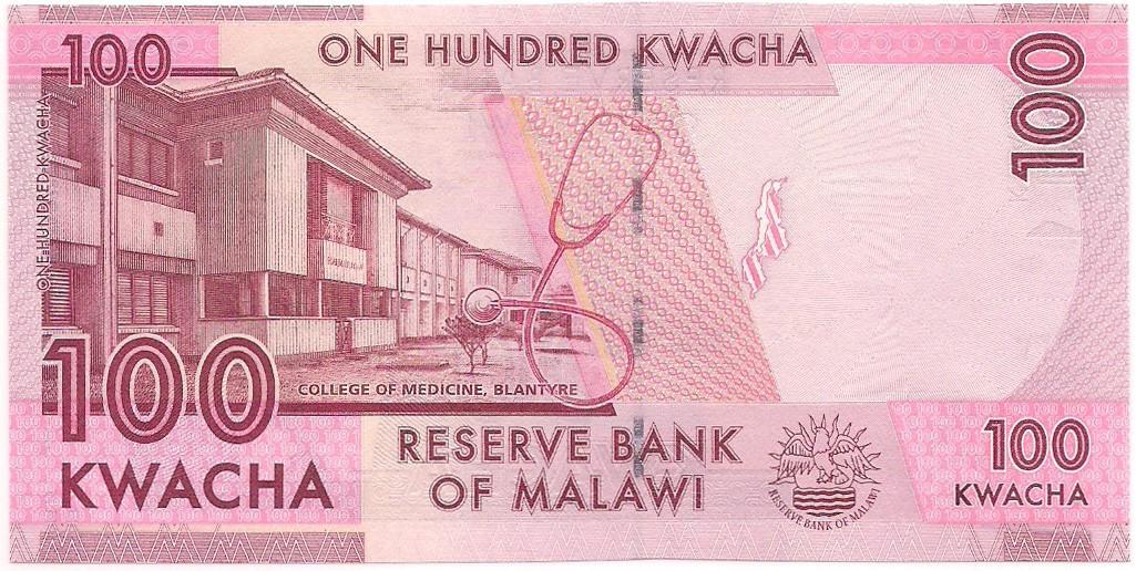 Malawi - 100 Kwacha 2012, 2016 & 2017