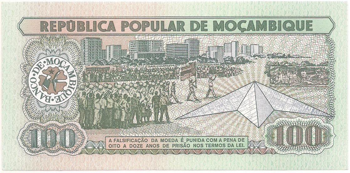 Moçambique - 100 Meticais FE 1989
