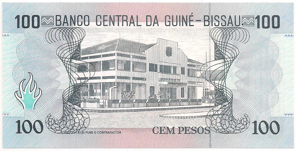 Guiné-Bissau - 100 Pesos (Domingo Ramos) FE 1990