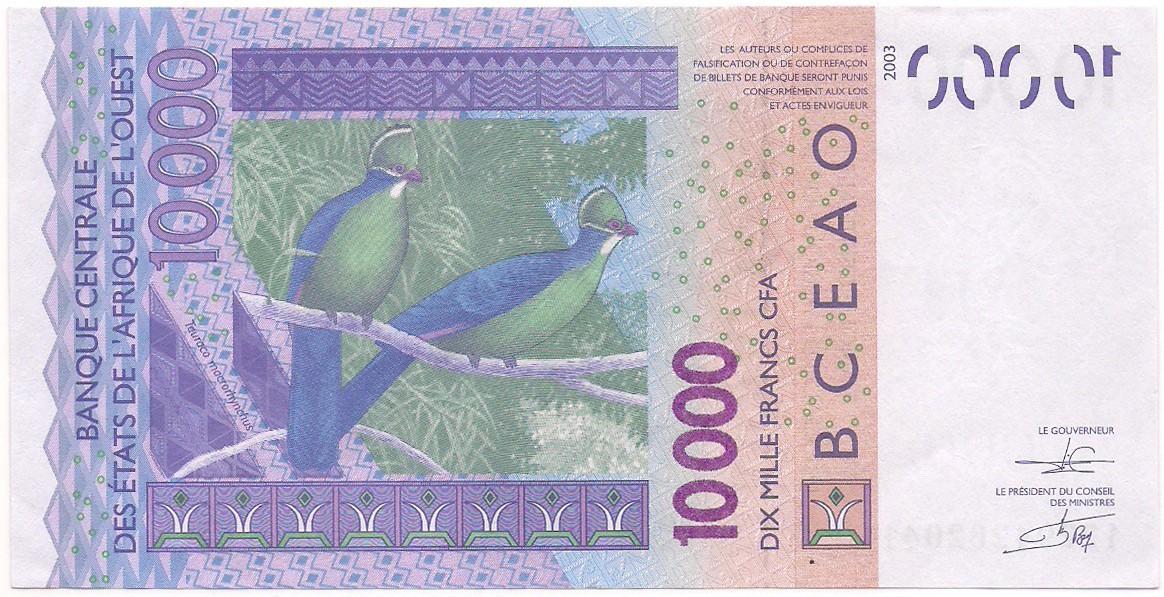 Estados Africanos do Oeste - 10.000 Francs CFA 2003
