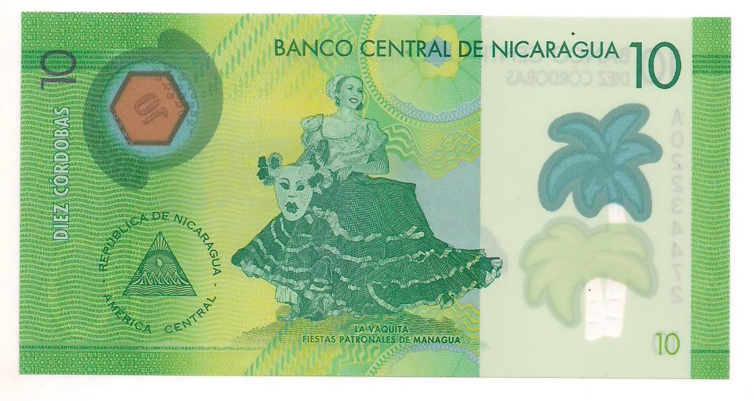 Nicarágua - 10 Córdobas FE 2014