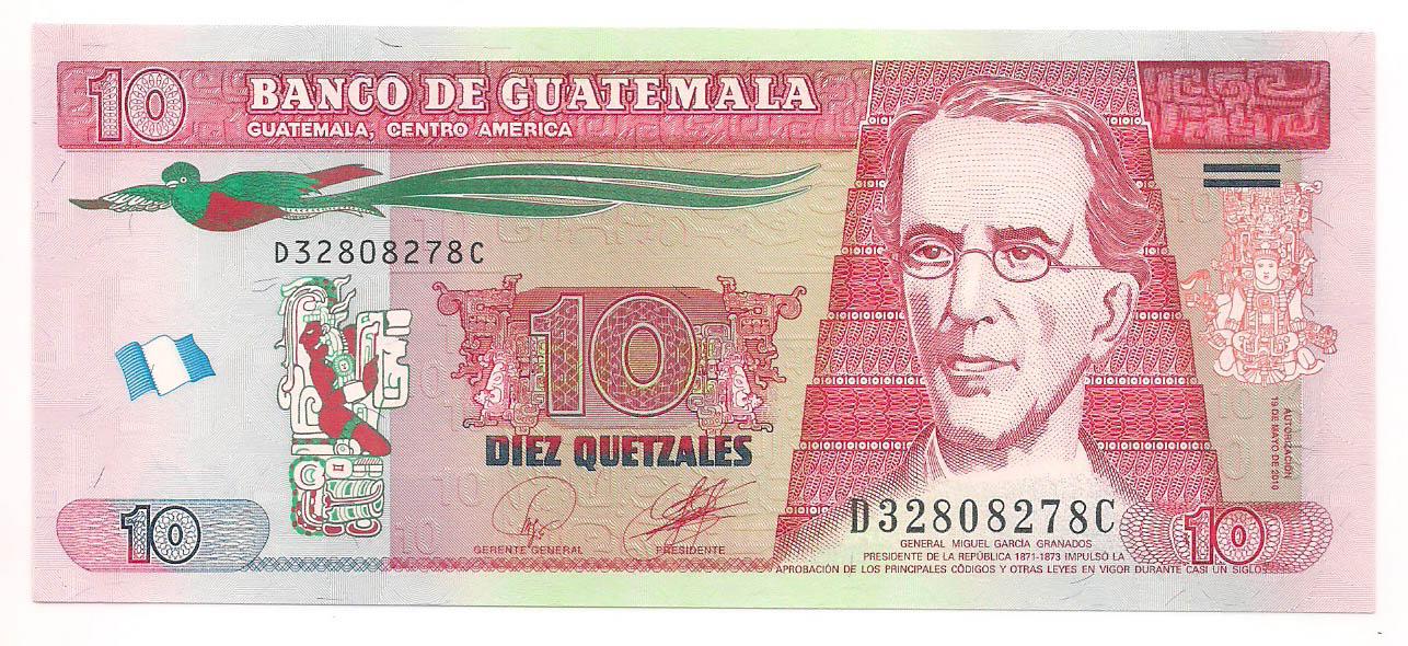 Guatemala - 10 Quetzales FE 2010