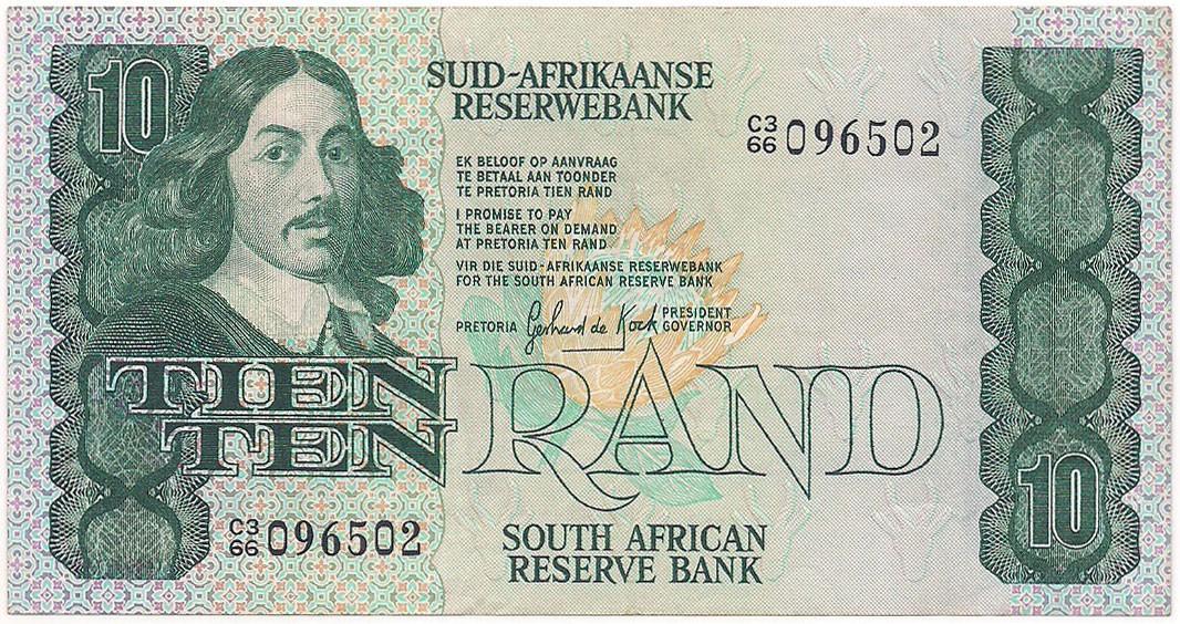 África do Sul - 10 Rand 1981