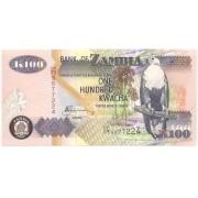 Zâmbia - 100 Kwacha 2006 & FE 2010