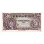 Colômbia - 20 Pesos Oro (Caldas) FE 1965