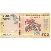 Burundi - 500 Francs 2015
