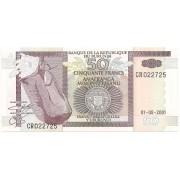 Burundi- 50 Francs  FE 2001