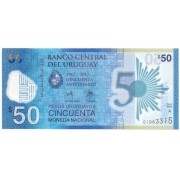 Uruguai - 50 Pesos Uruguaios FE 2017 Polímero