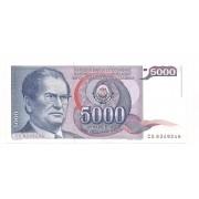 Iugoslávia - 5.000 Dinara FE 1985