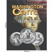 Álbum EUA 0,25 Cents Dollar 1932 a 1998