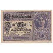 Alemanha - 5 Mark 1917