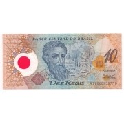 Cédula do Brasil - 10 Reais Polímero Pedro A. Cabral.