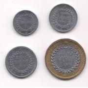 Cambodja - Série 50, 100, 200 e 500 Riels (4 pçs) SOB/FE