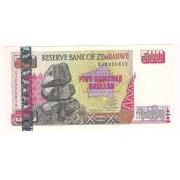 Cédula do Zimbabwer 500 dollars ano 2001 SOB/FE.
