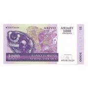 Cédula de 1000 Ariary ano 2004 - MADAGASCAR, F/E.