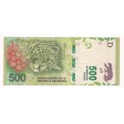 Cédula de 500 Pesos - REPUBLICA ARGENTINA 2016.