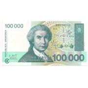 Croácia - 100.000 Dinares  - 1993
