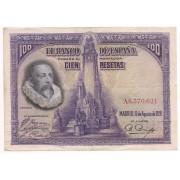 Espanha - 100 Pesetas (Cervantes) - 1928