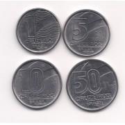 Série 1, 5, 10, e 50 cruzeiros 1990-1991 (SOB/FE)