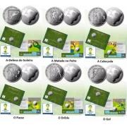 """Série Comemorativa """"Jogadas do Futebol"""" Copa Do Mundo 2014 - 6 Moedas"""