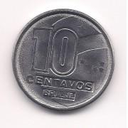 V409 - 10 centavos 1990 (Garimpeiro) SOB/FE