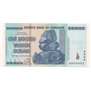 Zimbabwe 100.000.000.000.000 (cem trilhões) dólares - 2008