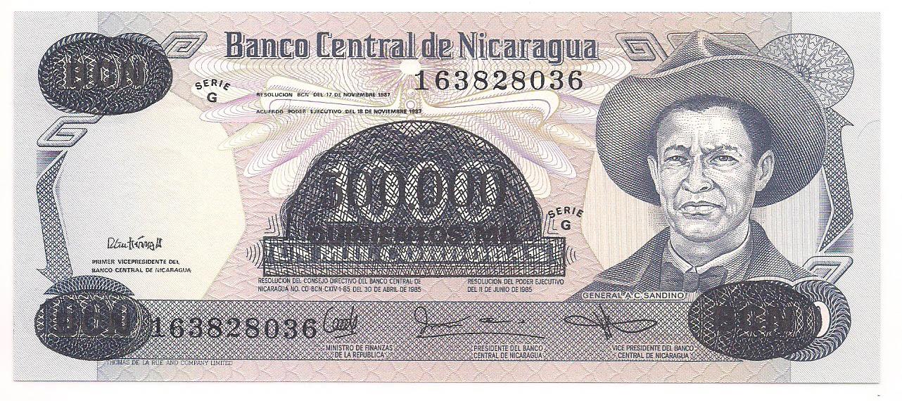 Nicarágua - 1.000 Cordobas FE 1987
