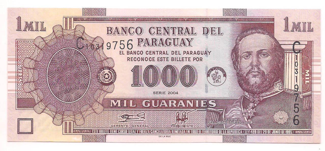 Paraguai - 1.000 Guaranies FE 2004