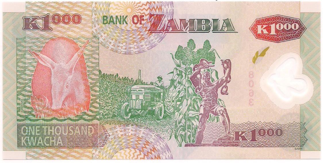 Zâmbia - 1.000 Kwacha 2009