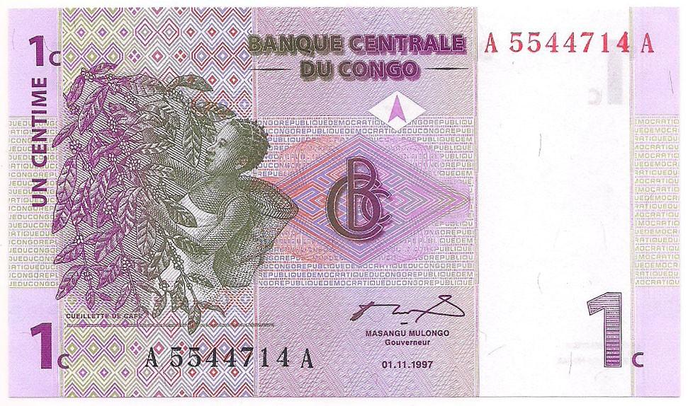 Congo - 1 Centime 1997