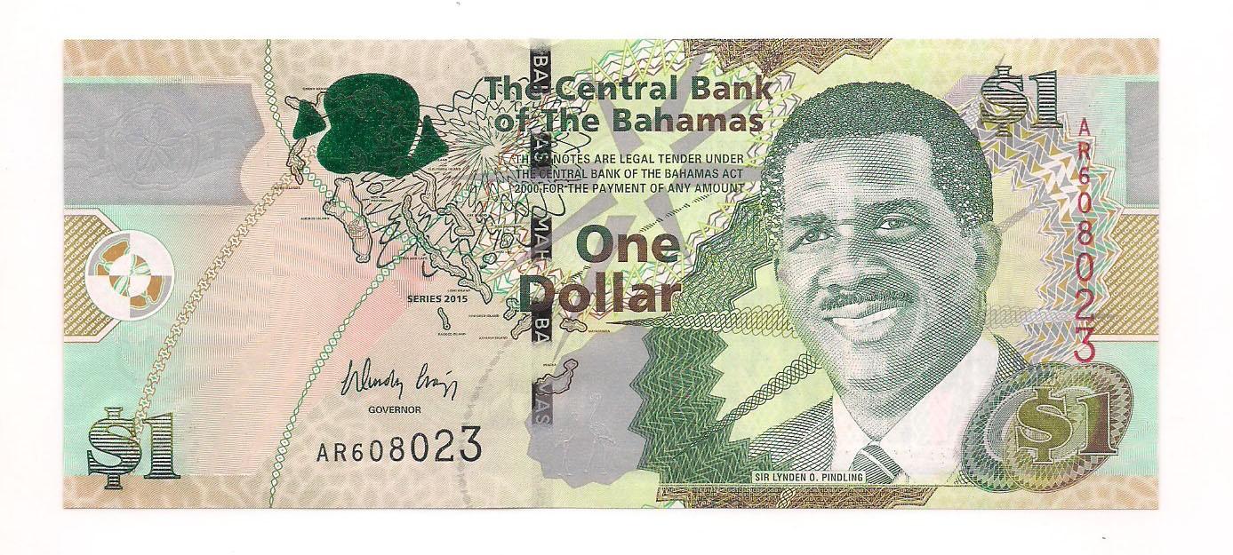 Bahamas - 1 dólar (Sir Lynden O. Pindling) 2015