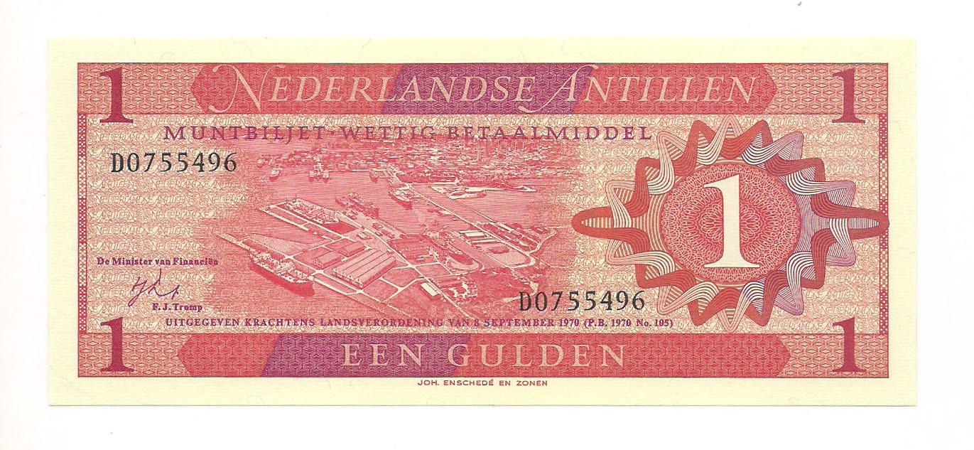 Antilhas Holandesas - 1 Gulden FE 1970